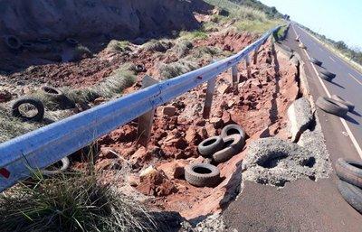 Contratista responsabiliza al MOPC de erosión en Ruta 11