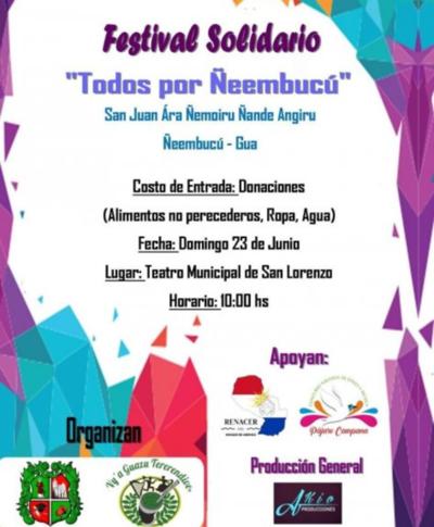 Festival solidario ´Todos por Ñeembucú´
