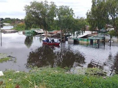 El río sigue retrocediendo