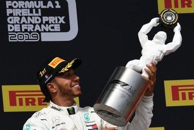 Hamilton gana en Francia