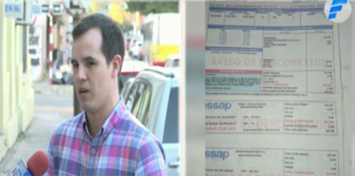 """HOY / Cliente denuncia sobrefacturación de ESSAP: factura de junio """"trepó"""" a casi G. 2 millones"""