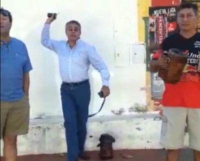 Intendente de San Antonio agredió a una ciudadana
