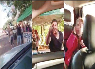 Atacan vehículo de un concejal de CDE donde iban dos niñas