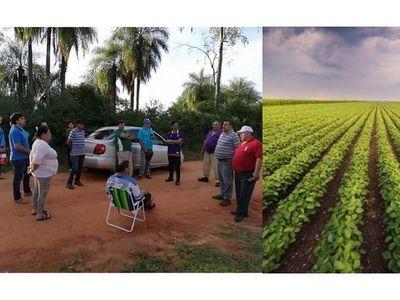 San Juan Bautista: Vecinos se oponen a la plantación de soja