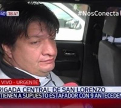 Capturan a presunto estafador en San Lorenzo