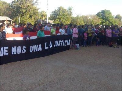 Con paro cívico, pobladores de Puerto Casado exigen mayor seguridad