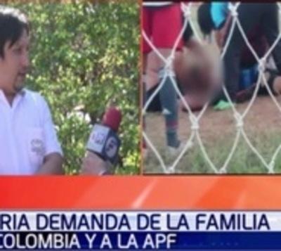 Familiares piden indemnización tras deceso de arquero de inferiores