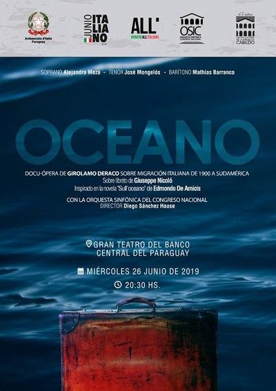 Estreno mundial en Asunción de la ópera «Océano» de Girolamo Deraco