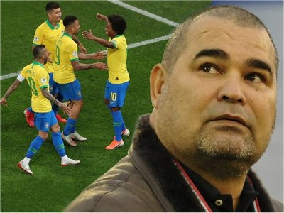 El equipo y el esquema de Chilavert para jugar contra Brasil