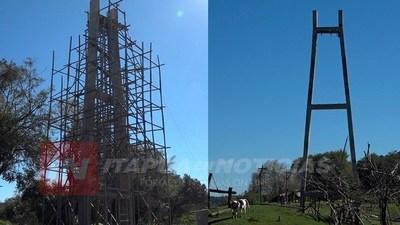 CAP. MEZA: AGUARDAN CONTINUIDAD EN LA CONSTRUCCIÓN DEL PUENTE COLGANTE.