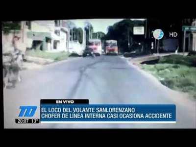 Imprudencia criminal de un chofer en San Lorenzo