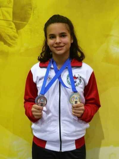 Doble medalla para Luciana García en São Pablo
