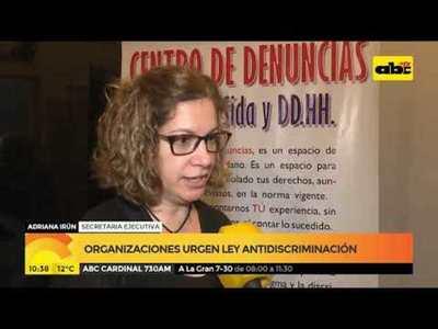 Organizaciones urgen ley anti discriminación