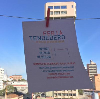 """Organizan feria """"Tendedero"""" para activar la calle"""