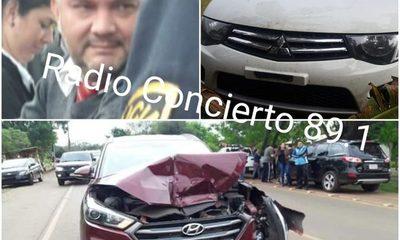Funcionario fiscal  salió a dar un «paseo» con camioneta incautada y ocasionó choque