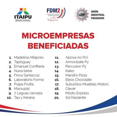 """Unas 20 microempresas fueron seleccionadas ganadoras del concurso """"Con Vos Paraguay Crece"""""""