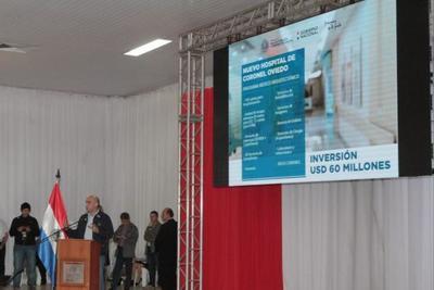 Gobierno anuncia inversión de USD 60 millones en construcción de hospital de alta complejidad en Cnel. de Oviedo