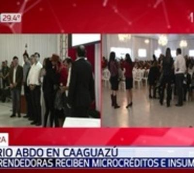 Emprendedoras reciben microcréditos e insumos en Caaguazú