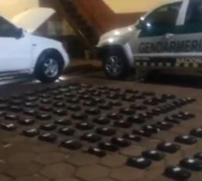 Detienen a paraguayos con 83 kilos de cocaína en Argentina