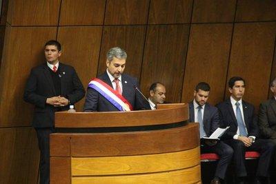 Mario Abdo brinda su primer informe de gestión ante el Congreso de la Nación