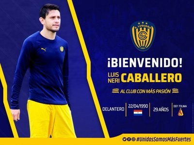 Luis Caballero, nuevo jugador de Luqueño