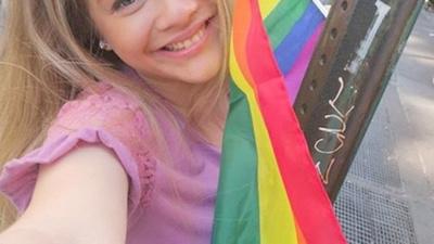"""Fátima Fernández se sumó al desfile del """"orgullo gay"""""""