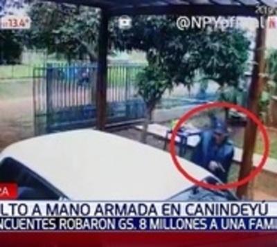 Violento asalto a mano armada en Canindeyú