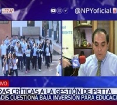 Duras críticas a gestión de Eduardo Petta