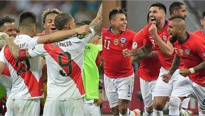 """Perú y Chile en duelo por el """"Clásico del Pacífico"""" y el boleto a la Final"""