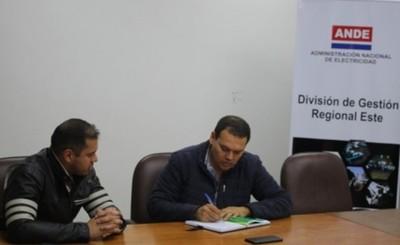 Municipalidad y ANDE trabajarán en conjunto para iluminar CDE