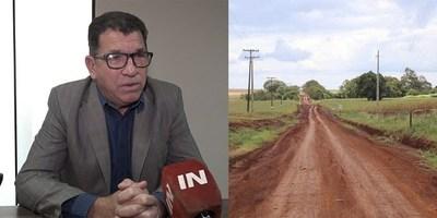 ASFALTADO DE MA. AUXILIADORA- NATALIO BENEFICIARÁ A MILES DE PRODUCTORES DEL NORDESTE.