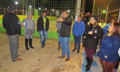 Inauguran mejoras en plaza de Presidente Franco