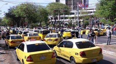 Taxistas bloquean calles en las inmediaciones de la Junta de Asunción
