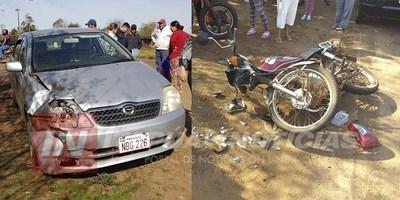 GRAVE ACCIDENTE INVOLUCRA A MOTOCICLISTA DE 12 AÑOS DE EDAD.