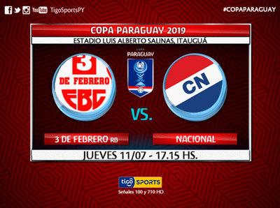 Nacional debuta en la Copa Paraguay