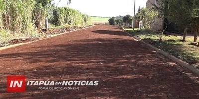 CONSTRUCCIÓN DE EMPEDRADOS EN CARONAY LLEGARÁ AL 100% DE LAS CALLES