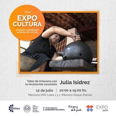 Atractivos culturales en el stand de la SNC en la Expo 2019