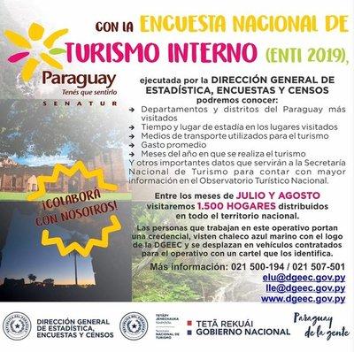 Arranca encuesta nacional de Senatur para conocer situación del turismo interno