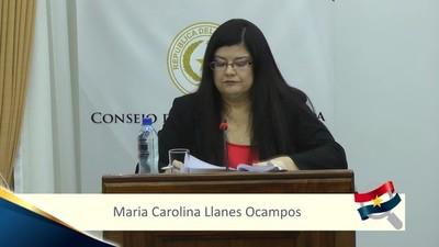 Senadores eligen a Carolina Llanes como nueva ministra de la Corte