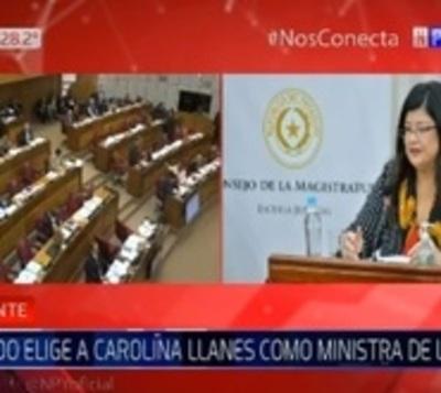 Senado elige a Carolina Llanes para la Corte