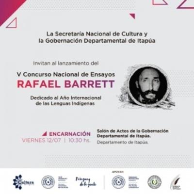 "Lanzarán concurso de ensayo literario ""Rafael Barrett"""