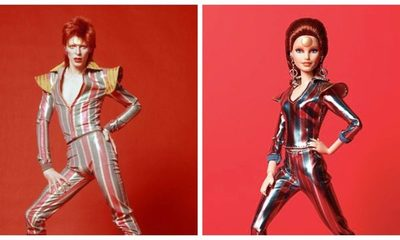 """Mattel lanza Barbie inspirada en David Bowie para conmemorar el 50° aniversario de """"Space Oddity"""""""
