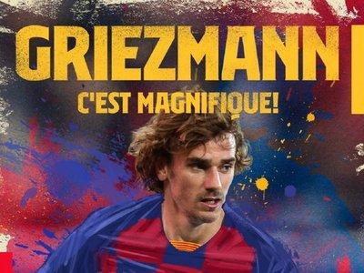 Barcelona hace oficial el fichaje de Griezmann por 5 temporadas