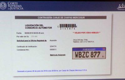 Municipios tienen autoridad para habilitar la chapa Mercosur
