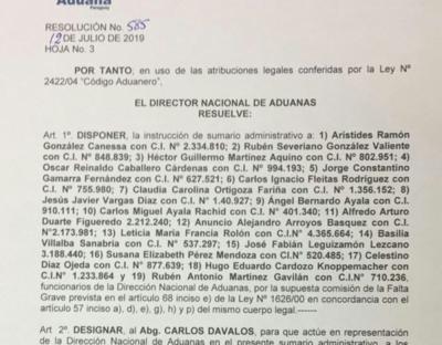 Sumarian a 20 funcionarios de Aduanas