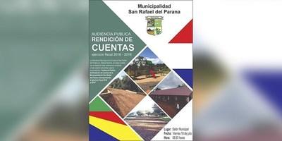 ANUNCIAN RENDICIÓN DE CUENTAS PÚBLICAS EN SAN RAFAEL DEL PNÁ.