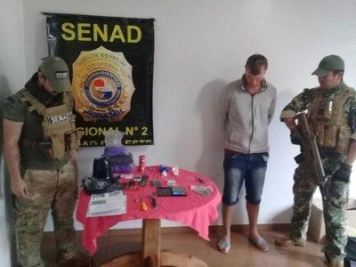 Cae supuesto microtraficante de drogas en Santa Rita