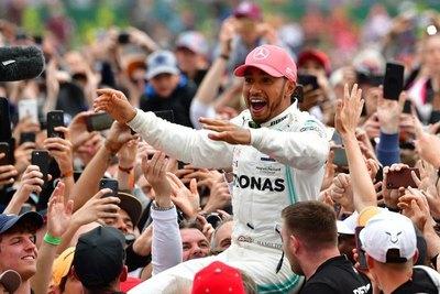 Hamilton logra un sexto triunfo récord en GP de Gran Bretaña