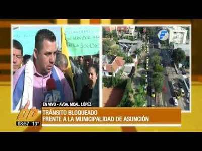 """Taxistas: """"Estamos reclamando nuestros derechos"""""""