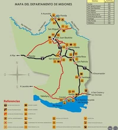 Misiones prepara un mapa turístico